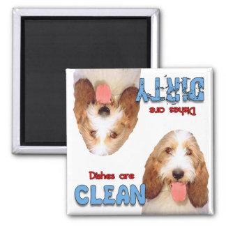 PBGV Hundeliebhaber-Spülmaschinen-Magnet Quadratischer Magnet
