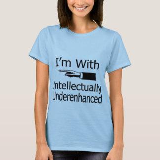 """PC """"ich bin mit dummem"""" mit Seiten versehenem T-Shirt"""