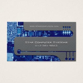 PC Reparatur-Visitenkarte umkreist Cutaway Visitenkarte