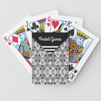 Pcket-Blick Schwarzweiss-Muster Bicycle Spielkarten