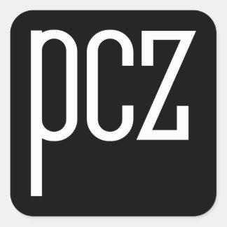 PCZ '57 QUADRATISCHER AUFKLEBER
