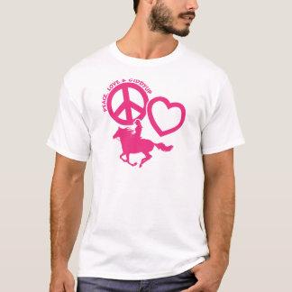 PEACE-LOVE-GIDDYUP T-Shirt