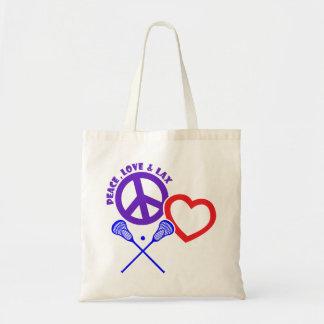 PEACE-LOVE-LAX BUDGET STOFFBEUTEL