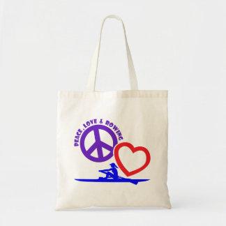 PEACE-LOVE-ROWING BUDGET STOFFBEUTEL