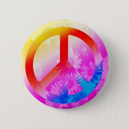 Peace Runder Button 5,7 Cm