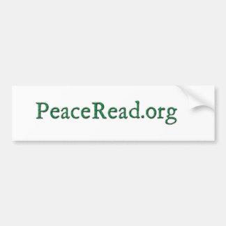 PeaceRead.Org Autoaufkleber