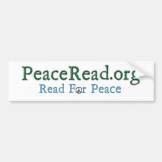 PeaceRead.Org Autoaufkleber - mit Aktion