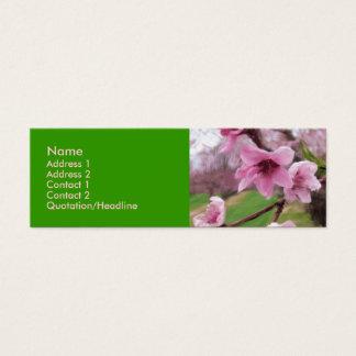 peach_blossoms1 mini visitenkarte