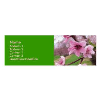 peach_blossoms1 Mini-Visitenkarten