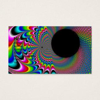 Peackock ein Delic - Fraktal-Kunst Visitenkarte