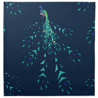 peacock pattern geometric serviette