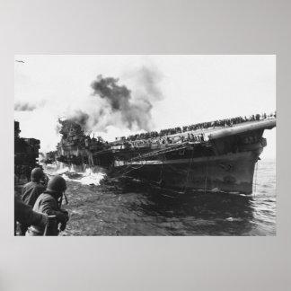 Pearl Harbor Flugzeugträger USSs Franklin (CV-13) Poster