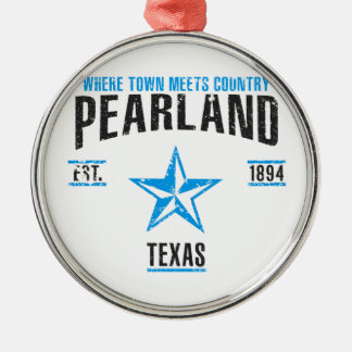 Pearland Silbernes Ornament