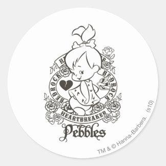PEBBLES™ Heartbreaker 1 Runder Aufkleber