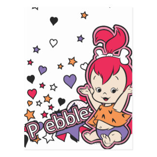 PEBBLES™ lila Herz Postkarte
