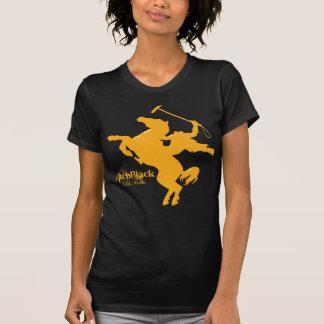 Pechschwarzes Polo-Team zierliche T T-Shirt
