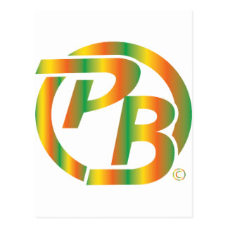 Pecky Boyz Logo Identifikation mehrfarbig Postkarte