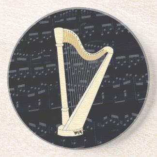Pedal-Harfen-Musik Getränkeuntersetzer