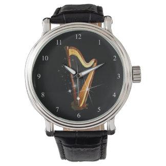Pedal-Harfen-Uhr Uhr