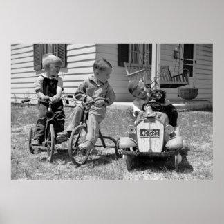 Pedal-Power, Dreißigerjahre Poster
