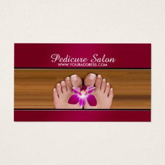 Pedicure-Nagel-Salon-Rosa-Blumen-Geschäfts-Karte Visitenkarte