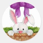 Peek-a-Boo Bunny Sticker