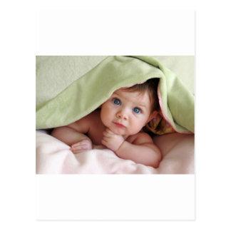 Peekaboo-Baby Postkarte