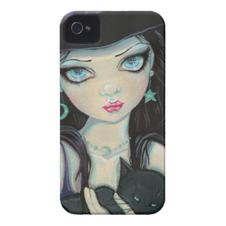 Peekaboo-Hexe-und Katzen-Halloween-Fantasie-Kunst Case-Mate iPhone 4 Hülle