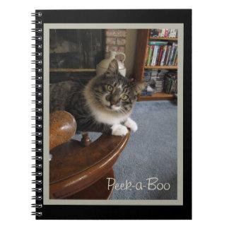 Peekaboo-Miezekatze Zorro Notizbuch Notizblock