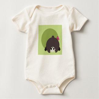 Peekaboo-Panda - Bio Baby-Bodysuit Baby Strampler