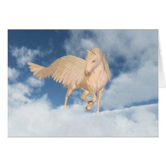 Pegasus, der unten durch Wolken schaut Karte