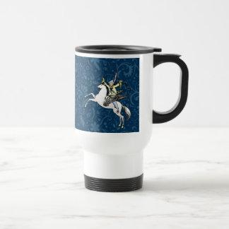 Pegasus-Fliegen-Pferdephantasie-Kunst-Druck Reisebecher