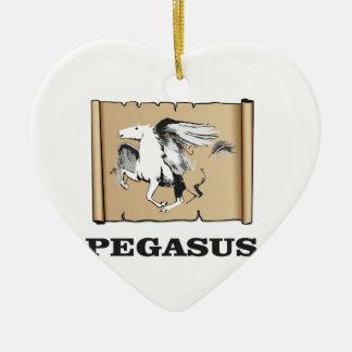 Pegasus-Flug Keramik Ornament
