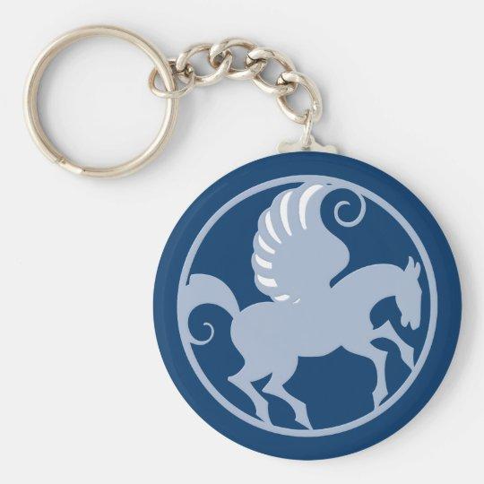 Pegasus im Kreis in circle Schlüsselanhänger