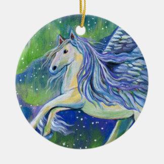 Pegasus im Nordlicht Keramik Ornament