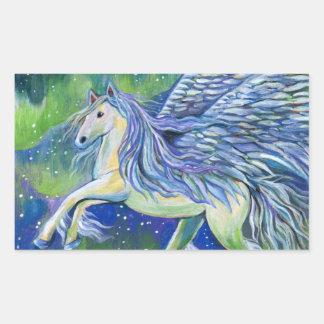 Pegasus im Nordlicht Rechteckiger Aufkleber