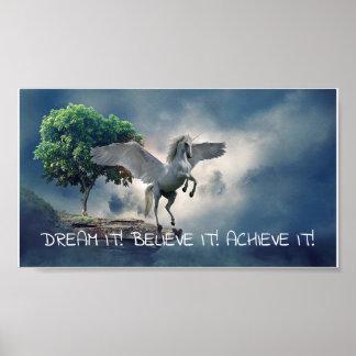 Pegasus-Leistungs-Zitat Poster