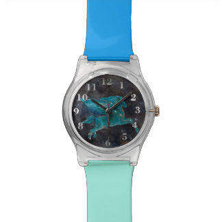 Pegasus und Galaxie Armbanduhr