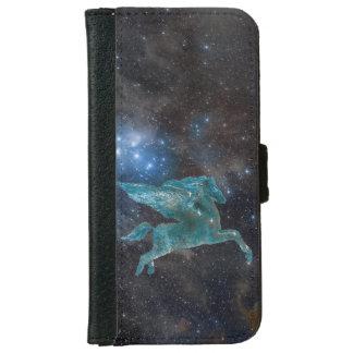 Pegasus und Galaxie Geldbeutel Hülle Für Das iPhone 6/6s