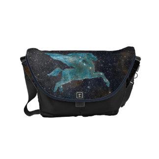 Pegasus und Galaxie Kuriertasche