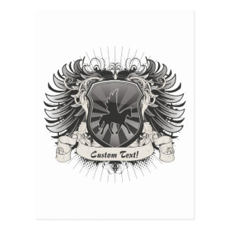 Pegasus-Wappen Postkarte