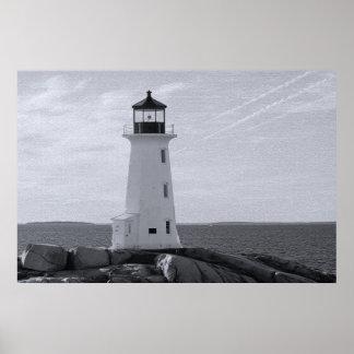Peggy Bucht-Leuchtturm-Kunstdruck Plakat