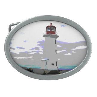 Peggy Bucht-Neuschottland-LeuchtturmGürtelschnalle Ovale Gürtelschnallen
