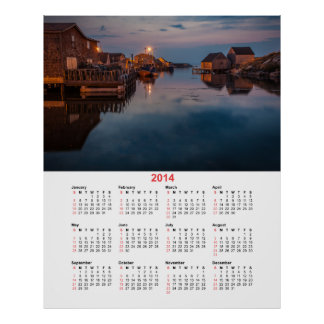 Peggys Bucht-Hafenkalender 2014 Poster