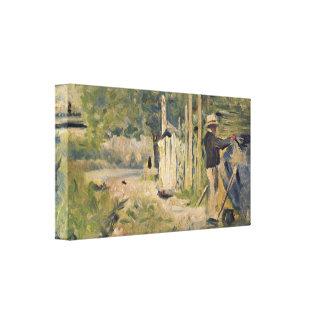 Peignant Sohn Georges Seurat - Homme Bateau Gespannter Galerie Druck
