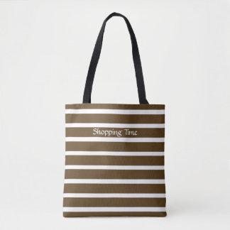 Pekannuss-Person-Streifen Tasche