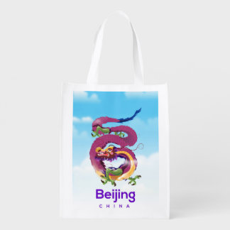 Peking-China-Drachereiseplakat Wiederverwendbare Einkaufstasche