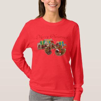 Pekingese Gruppe feiert Weihnachten T-Shirt
