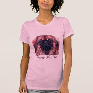 """Pekingese """"hübsch in Peke"""" T - Shirt"""
