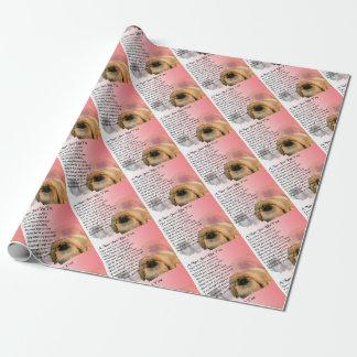 Pekingese Hund - Nan-Gedicht Geschenkpapier